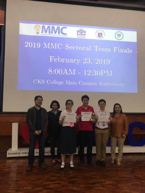Honors Metrobank MTAP DepED Math Challenge Sectoral Team Finals