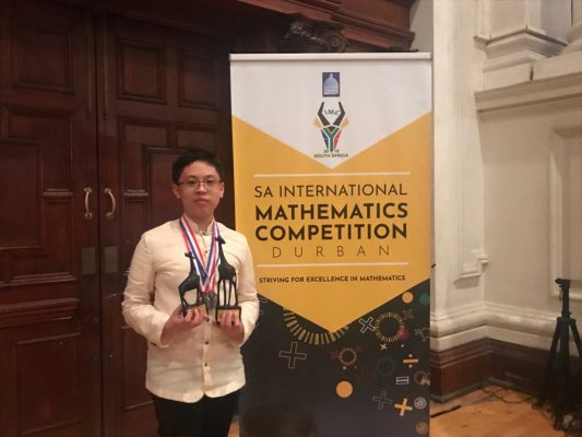 Keean Nathaniel Tang South African International Mathematics Competition